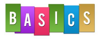 Basics Colorful Stripes. Basics text written over colorful background Royalty Free Stock Photo