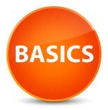 Basics elegant orange round button Stock Images