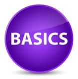 Basics elegant purple round button. Basics isolated on elegant purple round button abstract illustration Stock Photography