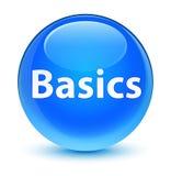 Basics glassy cyan blue round button Royalty Free Stock Photos