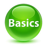 Basics glassy green round button Royalty Free Stock Photo