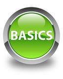 Basics glossy green round button Stock Photography