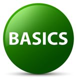 Basics green round button. Basics isolated on green round button abstract illustration Stock Photos
