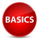 Basics elegant red round button. Basics isolated on elegant red round button abstract illustration Royalty Free Stock Photo
