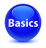 Basics glassy blue round button Stock Photography