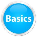 Basics premium cyan blue round button. Basics isolated on premium cyan blue round button abstract illustration Stock Photography