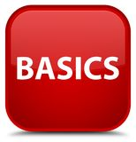 Basics special red square button Royalty Free Stock Photo
