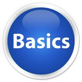 Basics premium blue round button. Basics isolated on premium blue round button abstract illustration Royalty Free Stock Photos