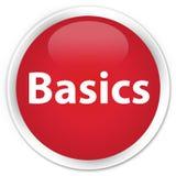 Basics premium red round button Stock Image