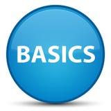 Basics special cyan blue round button. Basics isolated on special cyan blue round button abstract illustration Stock Images