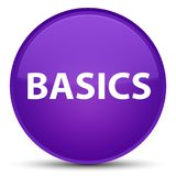 Basics special purple round button. Basics isolated on special purple round button abstract illustration Stock Image