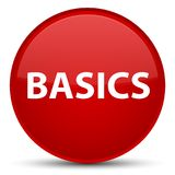 Basics special red round button. Basics isolated on special red round button abstract illustration Royalty Free Stock Photography