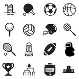 Basics Sports Icons Vector symbol Royalty Free Stock Images