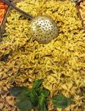 Basil Bowtie Pasta Stock Images