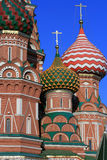 Basil cathedral. St. Basil cathedral at the Red square and blue sky as a background. Kremlin in Moscow, Russia Stock Image