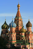 Basil cathedral. St. Basil cathedral at the Red square and blue sky as a background. Kremlin in Moscow, Russia Royalty Free Stock Images
