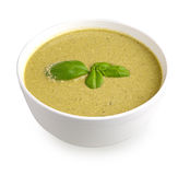 Basil cream soup Royalty Free Stock Photography