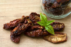 Basil and dried Tomatoes Stock Image