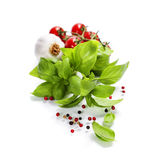 Basil and fresh vegetables Stock Photography