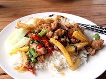 Basil Fried Rice Stock Photos