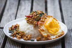 Basil Fried Rice Royalty Free Stock Images