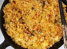 Basil fried rice Royalty Free Stock Photo