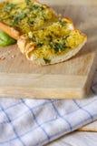 Basil Garlic Bread Image libre de droits