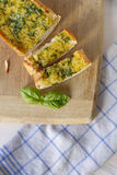 Basil Garlic Bread Royalty Free Stock Photos