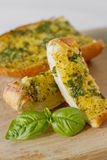 Basil Garlic Bread Stock Images