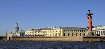 Basil Island in St Petersburg Royalty Free Stock Photography