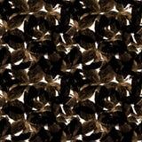 Basil Leafs Seamless Pattern Repeatably hand dragen bakgrund med kryddaörten och basilika Royaltyfria Bilder