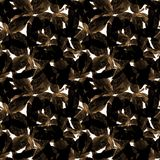 Basil Leafs Seamless Pattern Repeatablyhand Getrokken Achtergrond met Kruidkruid en Basilicum Royalty-vrije Stock Afbeeldingen
