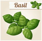 Basil Leaves Icône détaillée de vecteur Image stock
