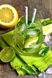 Basil lemonade. Stock Photo