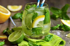 Basil lemonade. Stock Photography