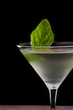 Basil martini Royalty Free Stock Photo