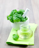 Basil oil Royalty Free Stock Photos