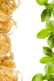 Basil and Pasta Stock Photography