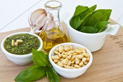 Basil pesto Royalty Free Stock Photos
