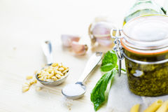 Basil Pesto Immagine Stock