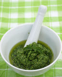 Basil Pesto Royalty Free Stock Image