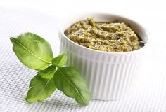 Basil pesto Royalty Free Stock Images