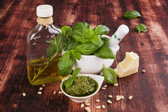 Basil pesto. Stock Photography