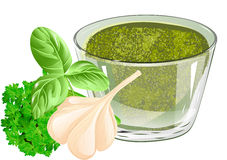 Basil pesto Stock Images