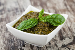 Basil pesto sauce Royalty Free Stock Photo