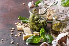 Basil pesto sauce Stock Image