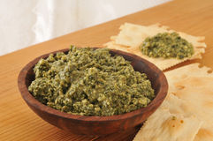 Basil pesto Stock Photo