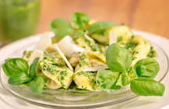 Basil Ricotta Tortelloni Royalty Free Stock Images