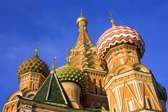 Basil's cathedral moscow cathedral   intercession orthodoxy Royalty Free Stock Photo
