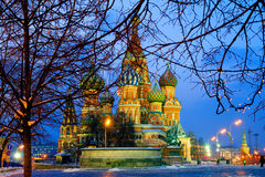 Basil's Cathedral on Red Square in Moscow Stock Photo